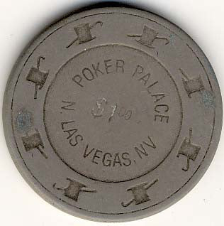 Poker Palace $1 (gray) chip - Spinettis Gaming - 1