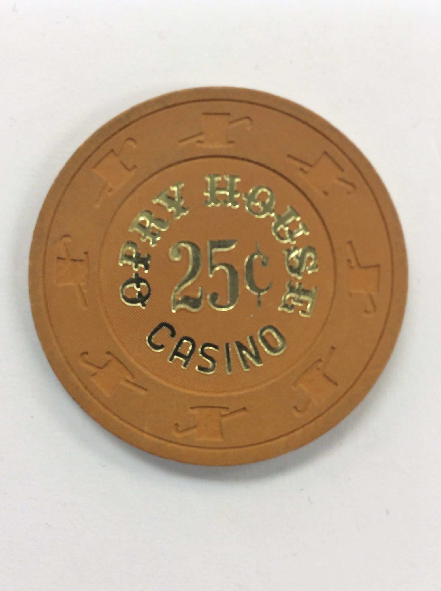 Opry House Casino 25cent (orchard) chip - Spinettis Gaming