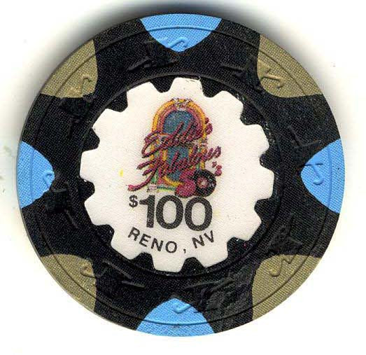Eddie's Fabulous Casino Reno $100 Chip 1987