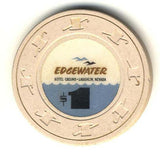 Edgewater $1 (beige 1994) Chip - Spinettis Gaming - 1