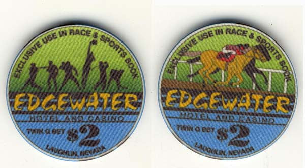 Edgewater $2 (green/blue 1993) Chip