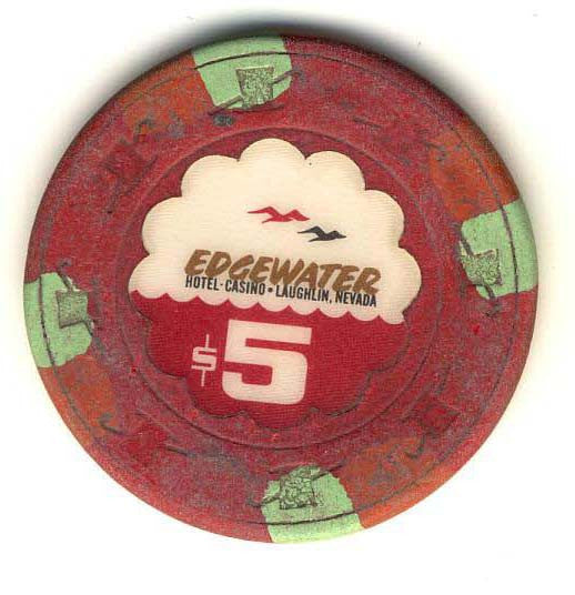 Edgewater $5 (red 1981) Chip