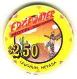Edgewater $2.50 (yellow 1998) Chip - Spinettis Gaming - 1