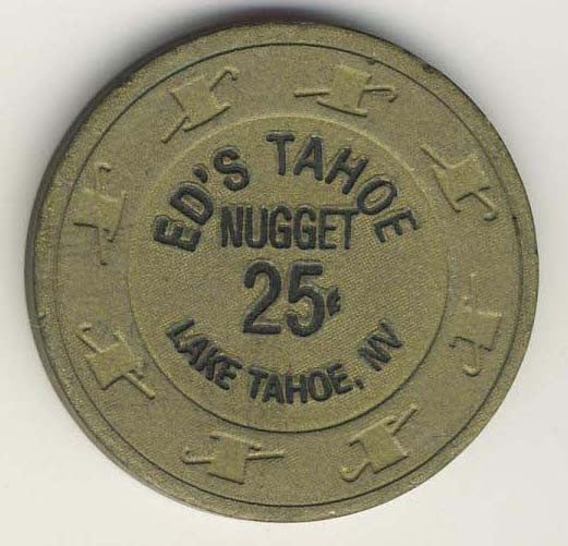 Ed's Nugget Tahoe 25 Chip - Spinettis Gaming - 1