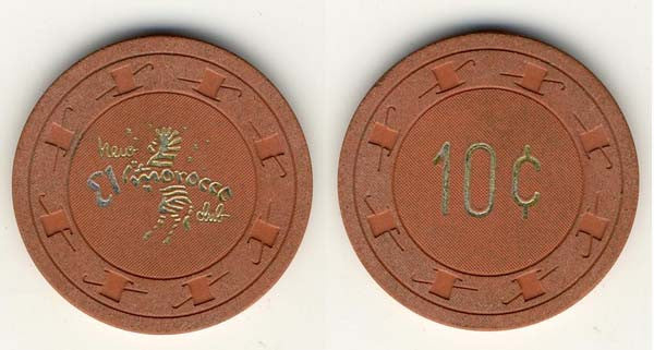 El Morocco 10 ( dk.orange 1959) Chip - Spinettis Gaming - 1