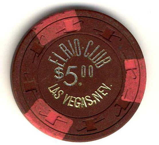 El Rio Club $5 (brown 1973) Chip - Spinettis Gaming - 1