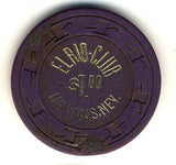 El Rio Club $1 (purple 1973) Chip - Spinettis Gaming - 2
