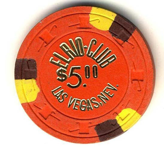 El Rio Club $5 (orange 1960s) Chip - Spinettis Gaming - 1