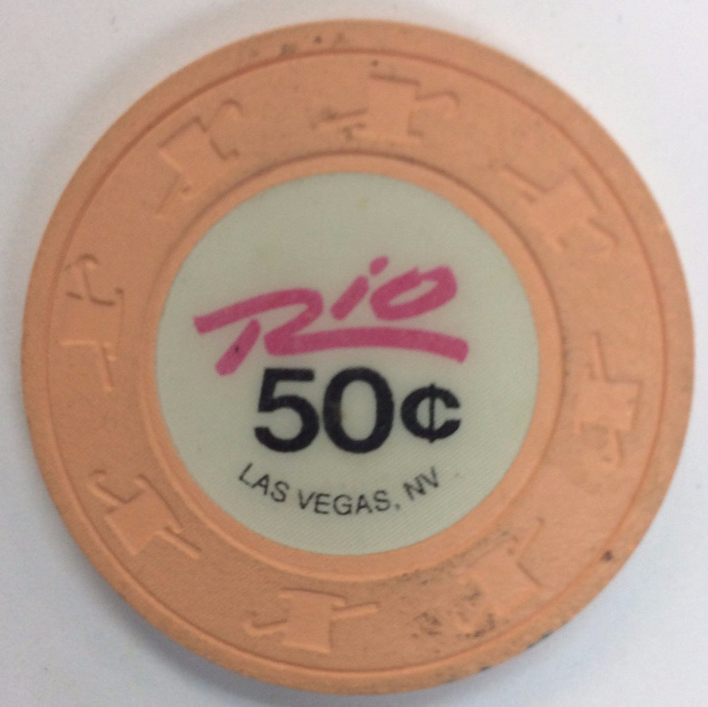 Rio Casino Las Vegas NV 50 Cent Chip 1989
