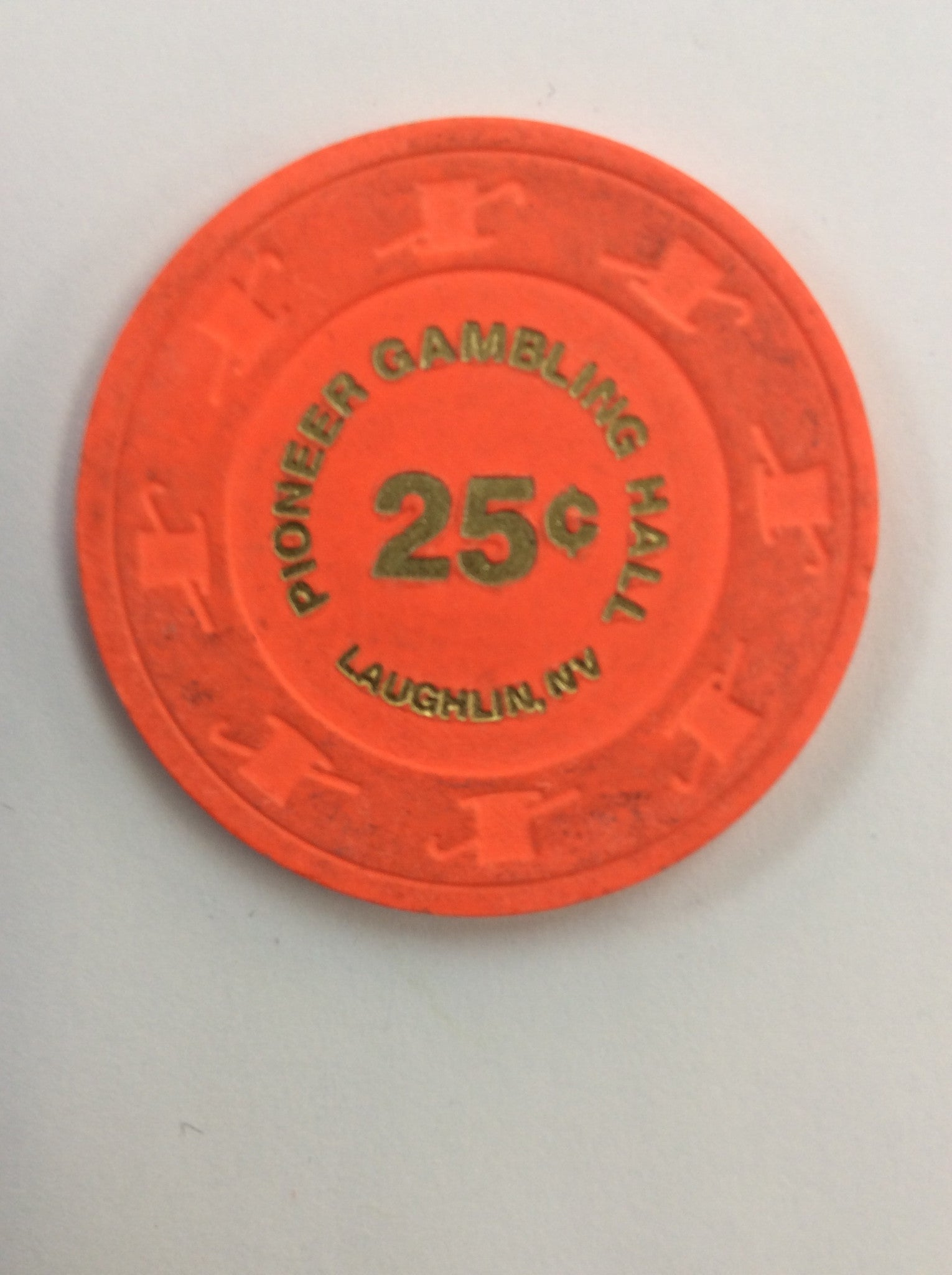 Pioneer Gambling Hall 25cent (orange) chip - Spinettis Gaming