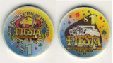 Fiesta Casino North Las Vegas $1 Casino Chip 4 Different Suits