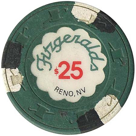 Fitzgeralds Casino Reno $25 chip 1990s - Spinettis Gaming