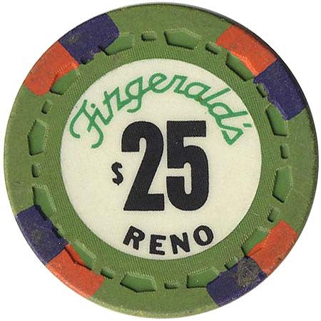 Fitzgeralds Casino Reno $25 chip 1976 - Spinettis Gaming