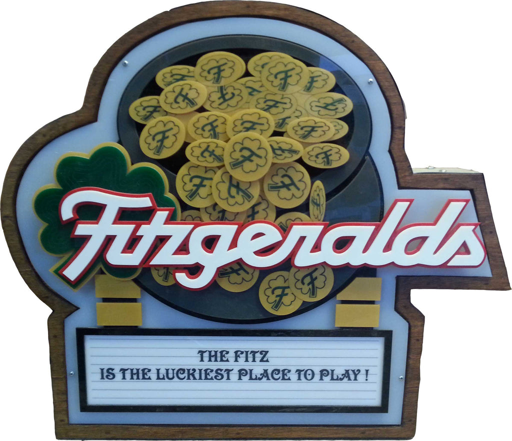 Fitzgeralds Casino Marquee Sign Lighted Replica