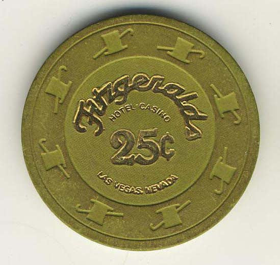 Fitzgeralds Casino Las Vegas 25cent (dk.green 1980s) Chip - Spinettis Gaming