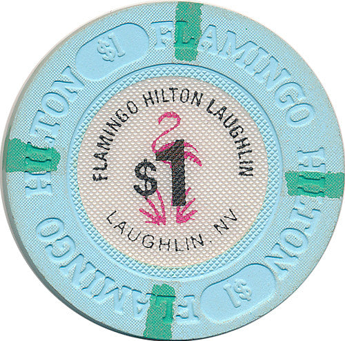 Flamingo Hilton Casino Laughlin NV $1 Chip 1990