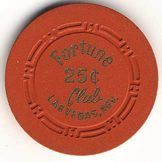 Fortune Club Casino Las Vegas NV 25 Cent Chip 1953