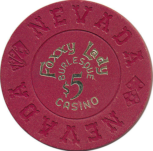 Foxxy Lady Burlesque $5 Casino Chip