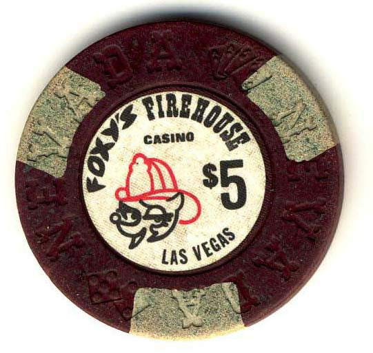 Foxy's Firehouse $5 (brown) chip - Spinettis Gaming - 2