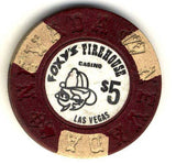 Foxys Firehouse $5 (brown/black 1976) chip - Spinettis Gaming - 2
