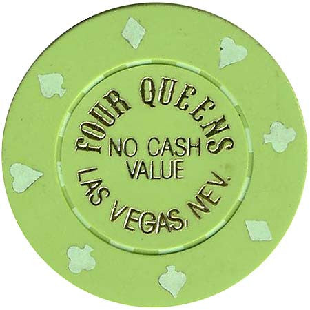 Four Queens (green) (no cash) chip - Spinettis Gaming - 1