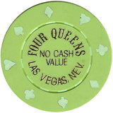 Four Queens (green) (no cash) chip - Spinettis Gaming - 2