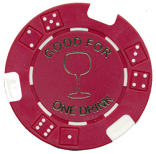 Free Drink Chips - Wine Glass Token/Tokens For Promotions