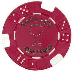 Free Drink Chips - Wine Glass Token/Tokens For Promotions - Spinettis Gaming - 1