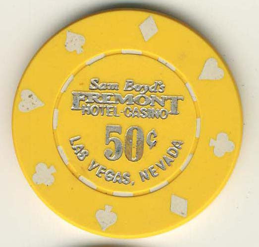 Fremont 50cent (yellow 1985) chip - Spinettis Gaming