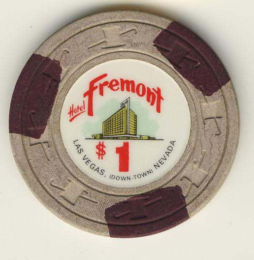Fremont $1 (off/white 1967) chip - Spinettis Gaming - 1