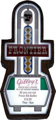 New Frontier Casino Marquee Sign Lighted Replica