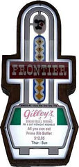Frontier Casino Marquee Sign Lighted Replica - Spinettis Gaming