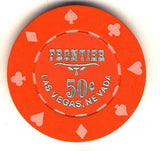 Frontier Hotel 50cent (orange 1980) chip - Spinettis Gaming