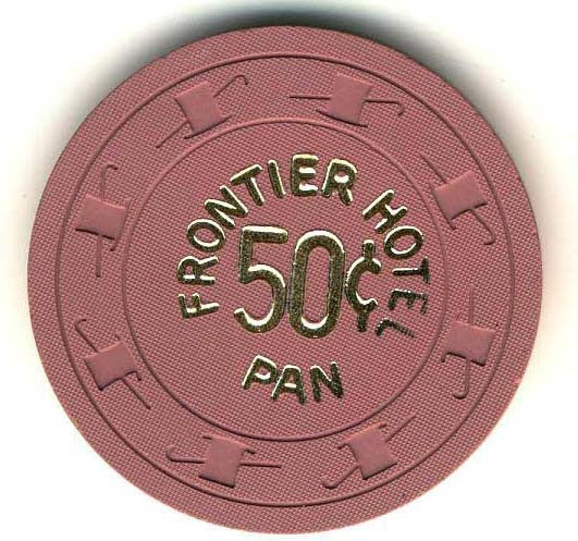 Frontier Hotel Casino Las Vegas NV 50 Cent PAN Chip 1960s