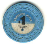 Frontier Hotel $1 (blue 1980) chip - Spinettis Gaming - 1