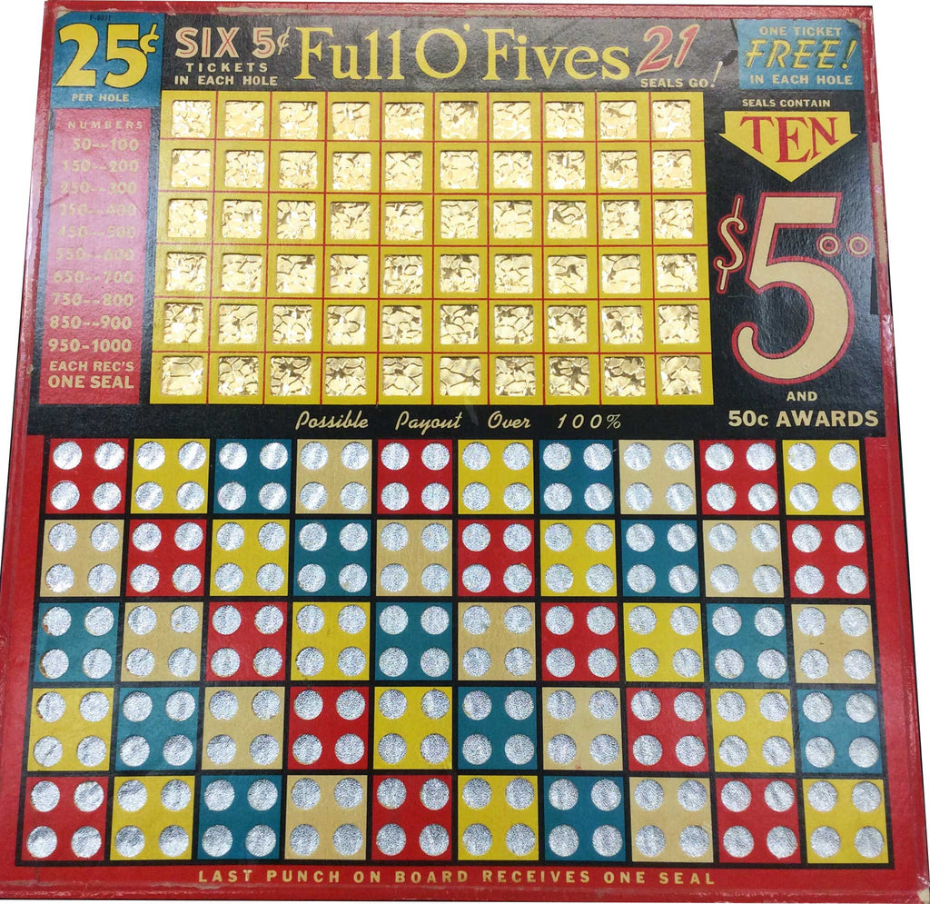 Full O' Fives Punchboard