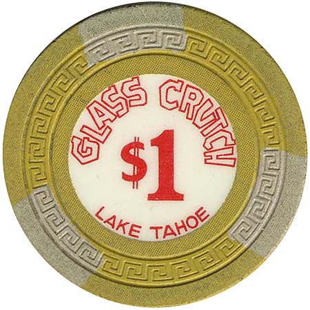 Glass Crutch Casino Stateline NV $1 Chip 1964