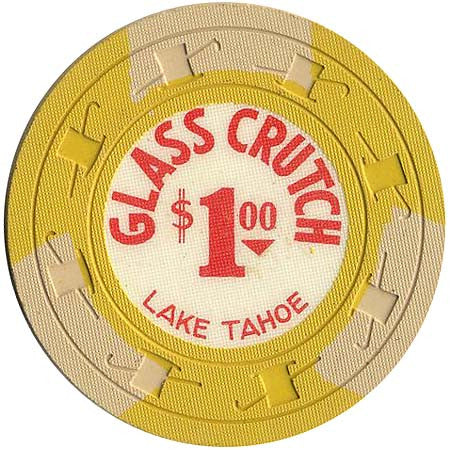 Glass Crutch Casino Stateline NV $1 Chip 1965