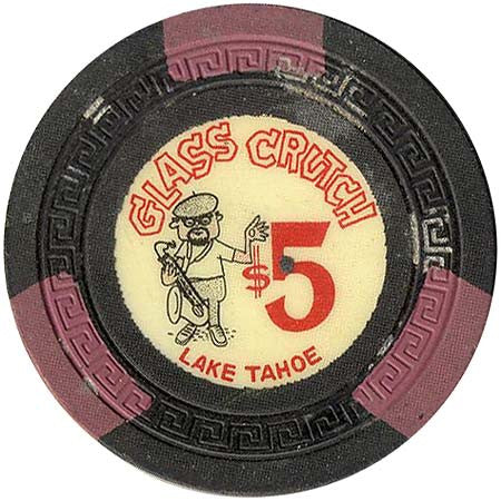 Glass Crutch Casino Stateline NV $5 Chip 1963