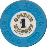 Golden Nugget, Laughlin NV $1 Casino Chip - Spinettis Gaming - 2