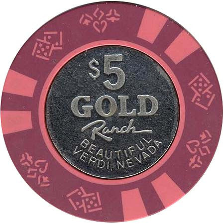 Gold Ranch $5 chip