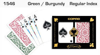 Copag 1546 Green/Burgundy Bridge Size 2 Deck Setup - Spinettis Gaming - 2