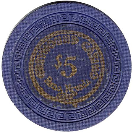 Greyhound Casino $5 chip
