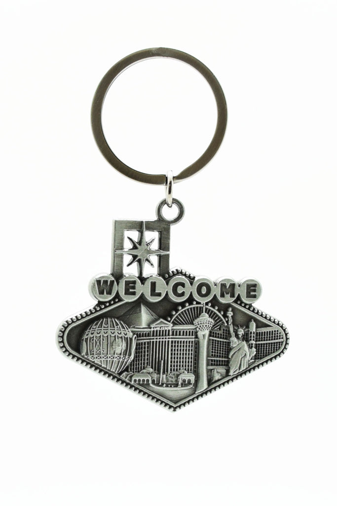 Key chain - Las Vegas Strip Theme 3D Pewter Style