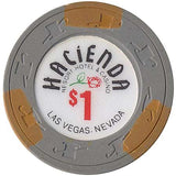 Hacienda $1 (grey) chip - Spinettis Gaming - 2