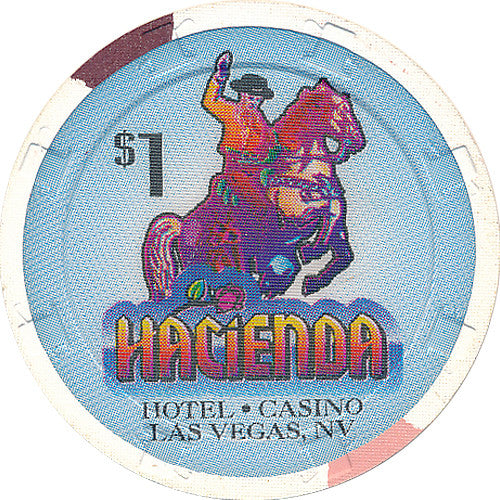 Hacienda $1 (white), Las Vegas NV - Spinettis Gaming - 1