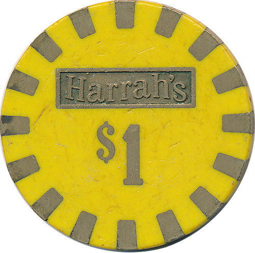 Harrah's, Reno Lake Tahoe NV $1 Casino Chip - Spinettis Gaming - 1