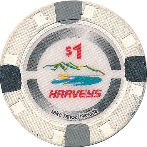Harveys, Lake Tahoe NV $1 Casino Chip - Spinettis Gaming - 1