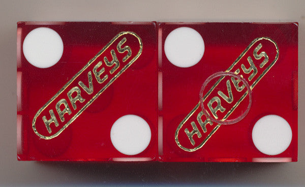 Harveys Lake Tahoe Used Casino Dice, Pair - Spinettis Gaming - 1