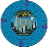 Las Vegas Hilton, Las Vegas NV (#1) $1 Casino Chip - Spinettis Gaming - 1